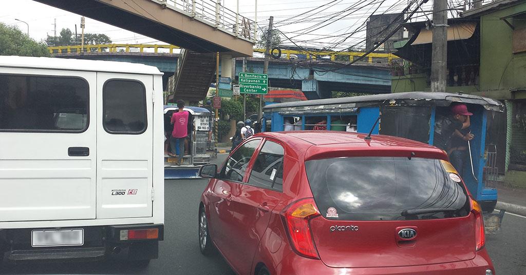 Marcos Highway A. Bonifacio Intersection going to Quezon City