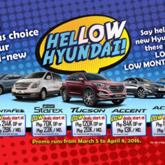 Hyundai Philippines offers low down, low monthly promo