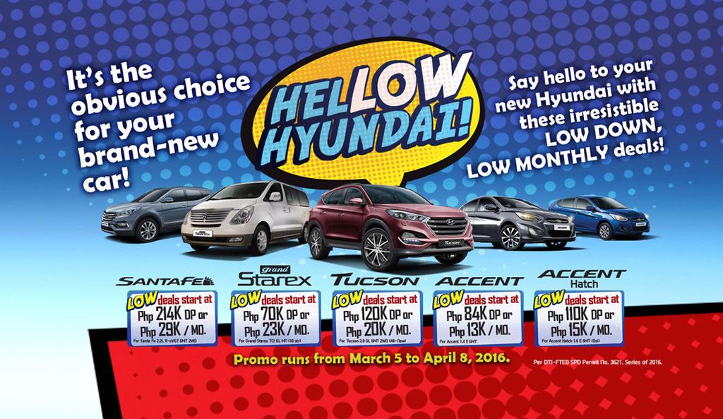 Hyundai Philippines HelLOW Financing Promo